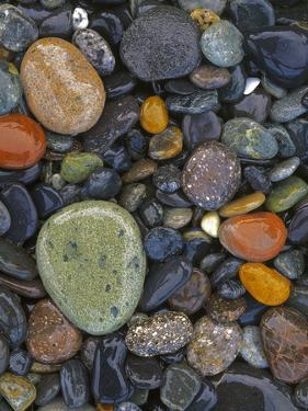 Stones, Lopez Island, Agate Beach County, Washington, USA by Charles Gurche