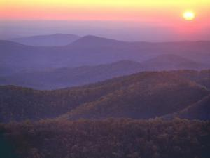 Sunrise from Buck Hollow Overlook, Shenandoah National Park, Virginia, USA by Charles Gurche