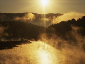 Sunrise, Lake Waterbury, Little River State Park, Vermont, USA by Charles Gurche