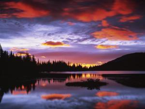 Sunrise on Reflection Lake, Mt. Rainier National Park, Washington, USA by Charles Gurche