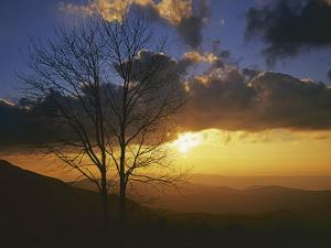 Sunset from Appalachian Trail, Shenandoah National Park, Virginia, USA by Charles Gurche