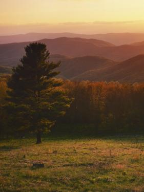 Sunset from Hazeltop Ridge, Shenandoah National Park, Virginia, USA by Charles Gurche