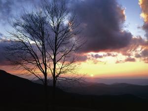 Sunset in Blue Ridge Mountains, Shenandoah National Park, Virginia, USA by Charles Gurche