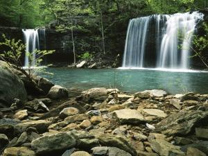 Twin Falls, Ozark-St Francis National Forest, Arkansas, USA by Charles Gurche