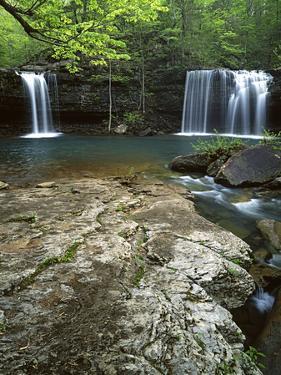 Twin Falls, Richland Creek, Ozark National Forest Arkansas, USA by Charles Gurche
