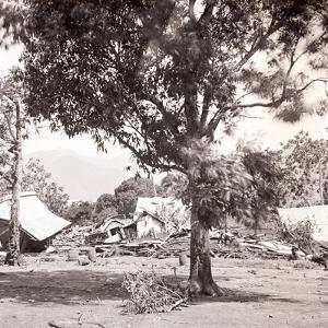 Aftermath of a Hurricane, Tahiti, Late 1800s by Charles Gustave Spitz