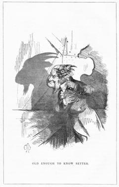 Shadow Drawing. C.H. Bennett, Old Enough... by Charles H Bennett