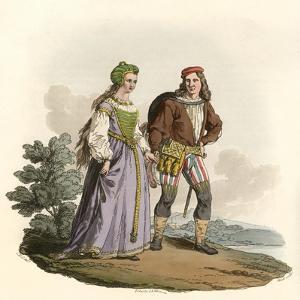 15th Century Couple by Charles Hamilton Smith