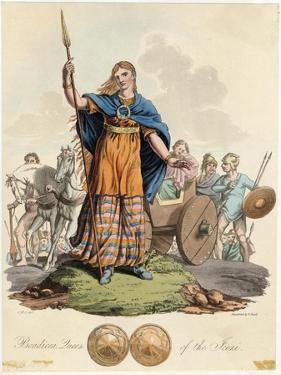 Boadicea (Variously Spelt Eg Boudicca) Queen of the Iceni Wife of Prasutagus by Charles Hamilton Smith