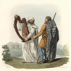Irish Druid and Ollamh by Charles Hamilton Smith