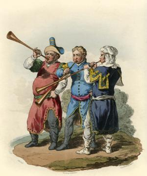 Medieval Trumpeters by Charles Hamilton Smith