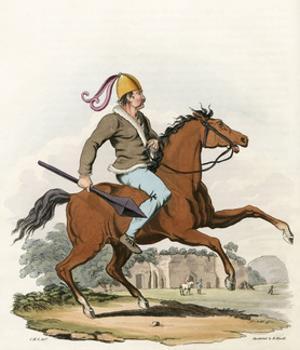 Mounted British Warrior by Charles Hamilton Smith