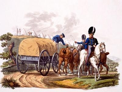 Uniform of Royal Artillery Drivers (With Wagon and Camp), from 'Costume of the British Empire,…