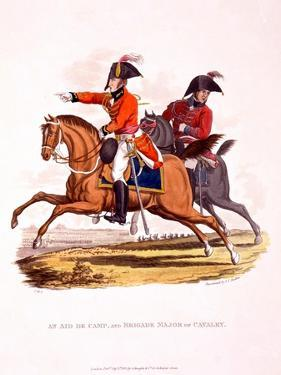 Uniforms of an Aide De Camp, and of a Brigade Major of Cavalry, from 'Costume of the British… by Charles Hamilton Smith