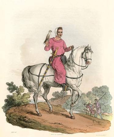 Young Nobleman Hawking