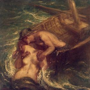 The Fisherman and the Mermaid, 1901-03 by Charles Haslewood Shannon