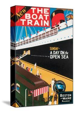 New Boat Train, Sunday on The Open Sea by Charles Holmes W.