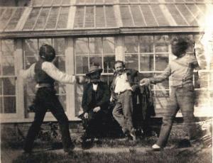 Charles Hugo Making Fencing.