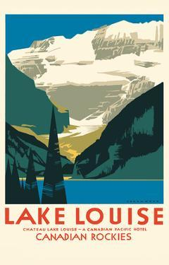 Lake Louise Canada - Canadian Rockies - Canadian Pacific Hotel by Charles James Greenwood