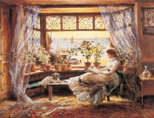 Reading by the Window Hastings by Charles James Lewis
