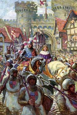Edward V Rides into London with Duke Richard, 1483 by Charles John De Lacy