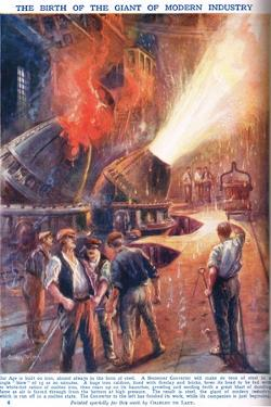 The Birth of the Giant of Modern Industry, Illustration from 'Newnes Pictor by Charles John De Lacy