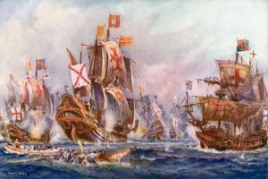 The Glorious Victory of Elizabeth's Seamen over the Spanish Armada, 1588 by Charles John De Lacy