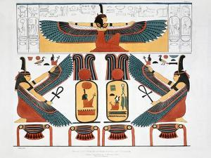 Mural from the Tombs of the Kings at Thebes, 1820 by Charles Joseph Hullmandel