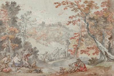 Italian Fall Landscape with Monte Porzio and an Offering to Pan, 1763