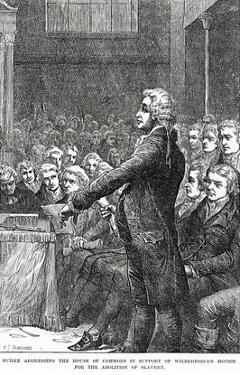 Burke Addressing the House of Commons in Support of Wilberforce's Motion for Abolition of Slavery by Charles Joseph Staniland