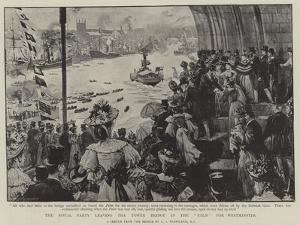The Royal Party Leaving the Tower Bridge in the Palm for Westminster by Charles Joseph Staniland