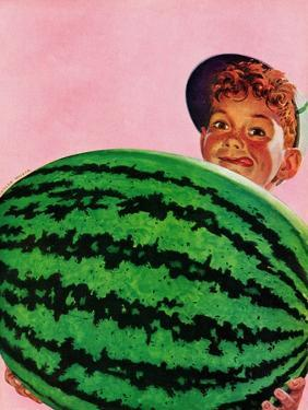 """Big Watermelon,"" August 22, 1942 by Charles Kaiser"