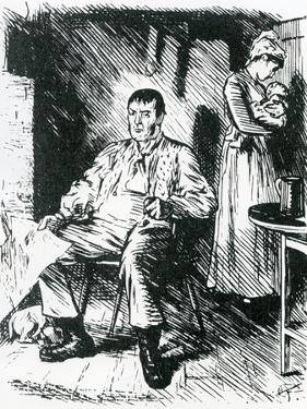 A Real Hard Case Illustration to Punch, 1875 by Charles Keene