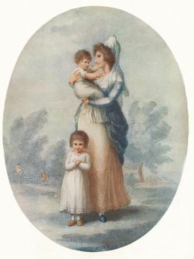 'Lady Rushout and Children', c1795 by Charles Knight