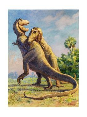 Tyrannosaurus Rex Could Grow to Be Twenty Feet Tall by Charles Knight