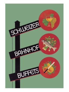 Schweizer Bahnhof Buffets by Charles Kuhn