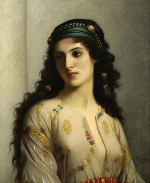 Jewish Woman from Tangiers. 1874. by Charles Landelle. Oil on Canvas, French Painting. by Charles Landelle