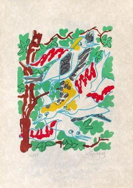 Oiseaux dans le feuillage by Charles Lapicque