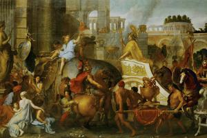 Alexander the Great Enters Babylon by Charles Le Brun