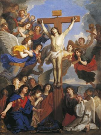 Crucifix with Angels, Circa 1660 by Charles Le Brun