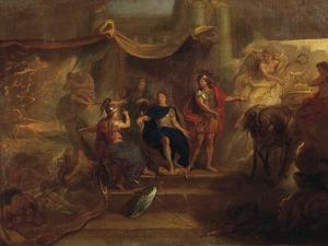 Decision to Make War on Dutch, Ceiling Painting from Galerie Des Glaces at Versailles, 1671 by Charles Le Brun