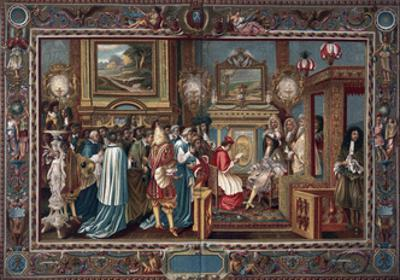 Louis XIV's Audience to the Papal Ambassador Sigismondo Chigi, 29 July 1664 by Charles Le Brun