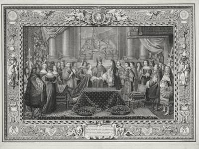 Marriage Ceremony of Louis XIV (1638-1715) King of France and Navarre by Charles Le Brun