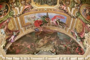 The Alliance of Germany and Spain with Holland, 1672, Ceiling Painting from the Galerie Des Glaces by Charles Le Brun