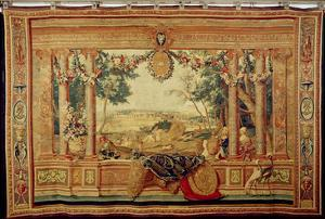The Month of June/ Chateau of Fontainebleau, from the Series of Tapestries by Charles Le Brun