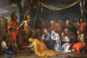The Queens of Persia at the Feet of Alexander (The Tent of Dariu), 1661 by Charles Le Brun