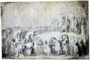 The Siamese Ambassadors before the King, 1686 by Charles Le Brun