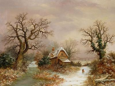 Little Red Riding Hood in the Snow, 19th Century