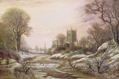 Worcester from the South West in the Snow, C.1875