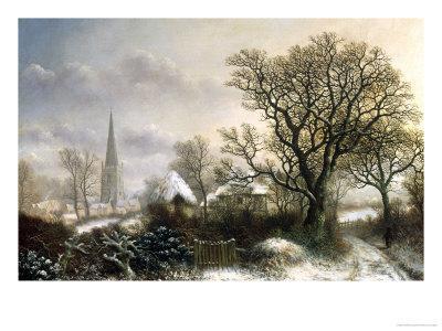Yardley Church, near Birmingham, in the Snow